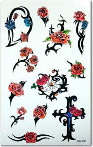 tribal thorned roses temporary tattoos