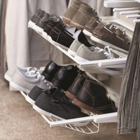 howards storage shoe rack howards storage world elfa gliding shoe shelf for flat
