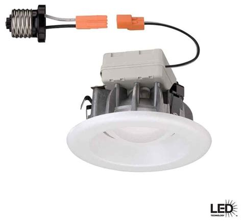commercial electric recessed lighting 4 in white led