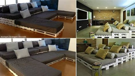 diy home theatre seating pallet home theatre seating home decor and diy