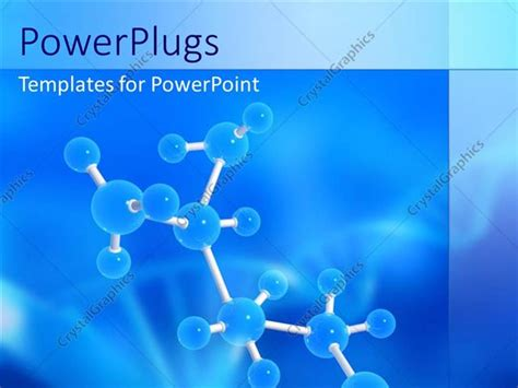Powerpoint Template Molecular Structure With Dna Symbol Free Ppt Templates For Biotechnology