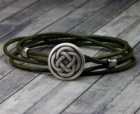 nudos celtas para pulseras nudo celta cuero pulsera de abrigo de cuero cuero