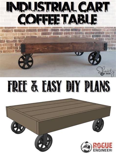 Industrial Cart Coffee Table Free Diy Plans Rogue Engineer Diy Cart Coffee Table