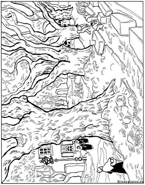 coloring page van gogh free vincent gogh coloring pages