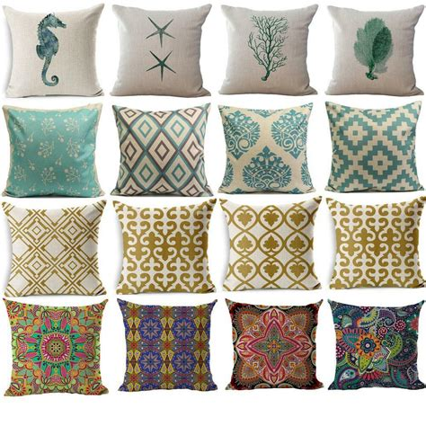 Sofa Pillow Covers by Geometric Flower Ethnic Throw Pillow Cover Sofa Decor