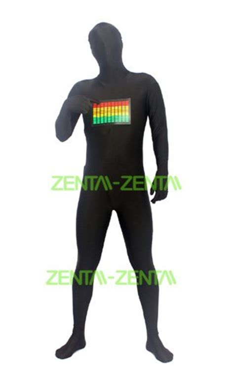 lights that respond to sound raver zentai suit panel lights respond to sound