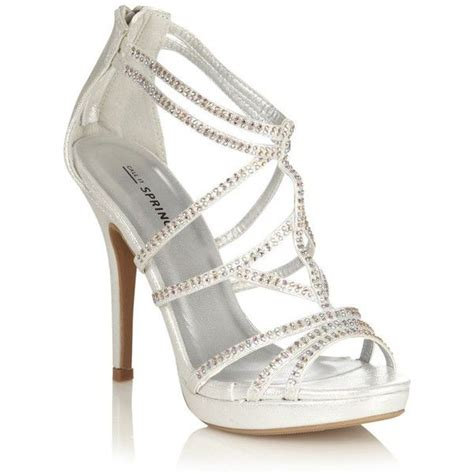 High Heels Vanilla Hitam 4 silver high heeled open toed sandals with diamant straps 76 found on polyvore getthelook