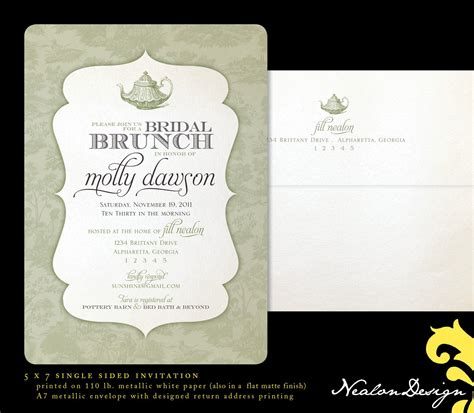 invitations for bridal shower luncheon bridal shower invitations bridal brunch shower