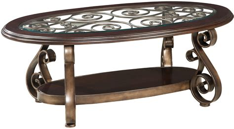 84 Scroll Metal And Glass Top Dining Table Tables World Cocktail Table With Glass Top And S Scroll Legs By Standard Furniture Wolf And