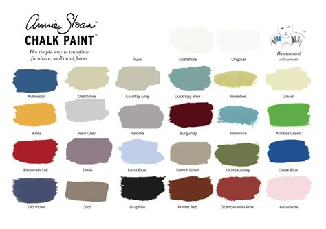 sloan paint colors chalk paint color card home savvy boutique