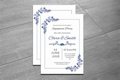 indesign invitation template 20 engagement invitation template word indesign and psd