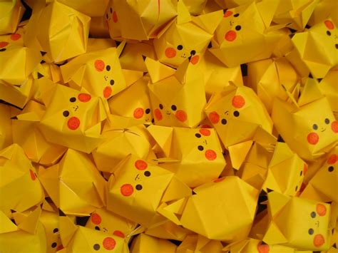 origami pikachu 2048x1536 wallpaper anime