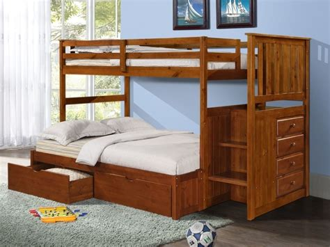 Bunk Beds With Stairs And Drawers Bunk Beds With Storage Drawers Stairs And Built In Dresser In Ebay