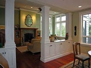 Living Room And Dining Room Divider Living Room Dining Room Divider Cabinetry W Storage Columns Portfolio Kitchen Bath And