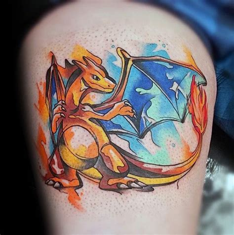 charizard tattoo design 60 charizard designs for ink ideas