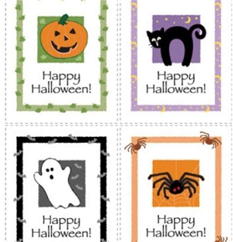 Halloween Gift Card Template - printable halloween cards to color printable coloring