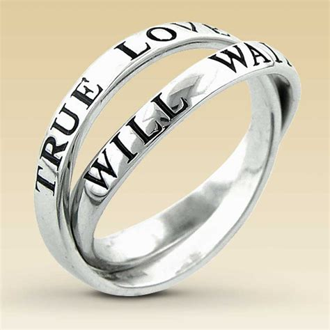 sterling silver purity ring abstinence promise rings