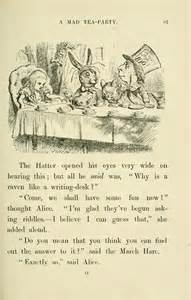 Why A Raven Is Like A Writing Desk Page Lewis Carroll Alice S Adventures In Wonderland Djvu