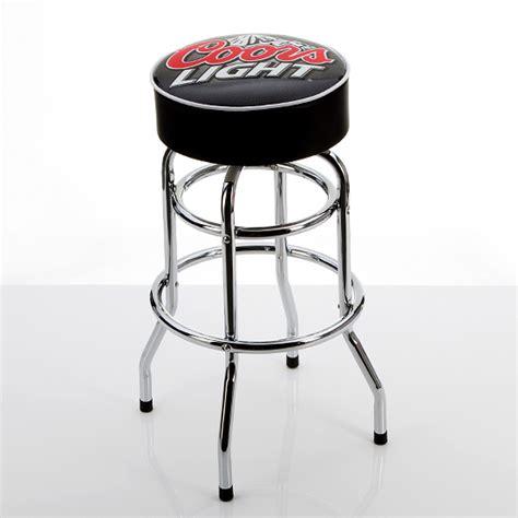 coors light bar stool beverage branded padded barstools