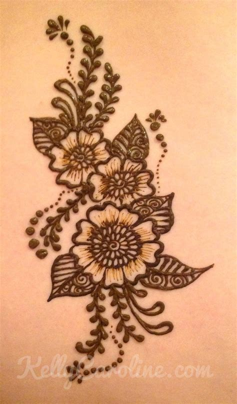 chic flower henna design ideas design