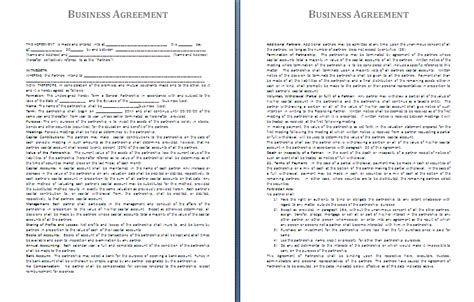 business agreement template free agreement and contract