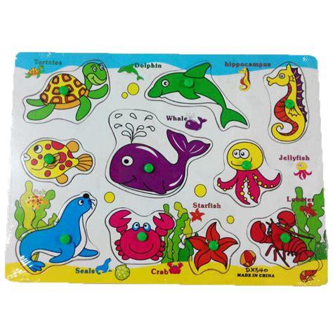 Puzzle Sea sea animals wooden puzzle planet x store