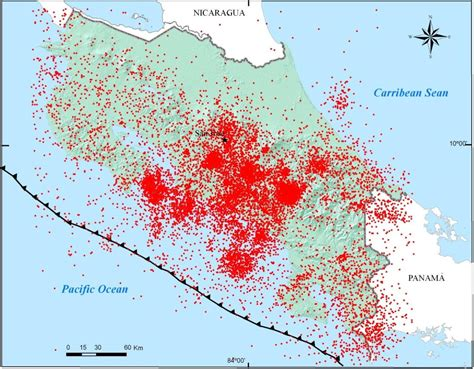 earthquake costa rica more than 1 000 aftershocks recorded after sunday s