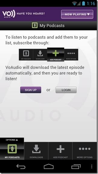 how to listen to podcasts on android podcasts on android iphone with voaudio