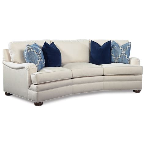 Curved Conversation Sofa Huntington House 2061 2061 28 Conversation Sofa With Curved Arms Baer S Furniture