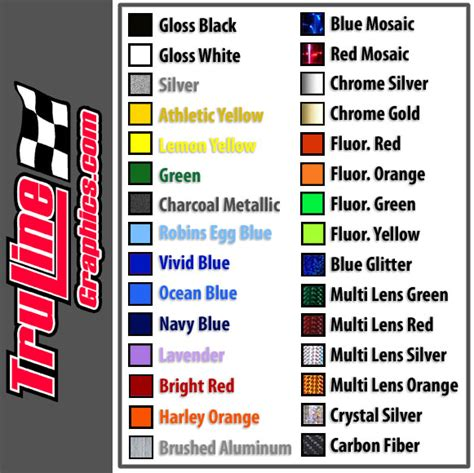 orange car color names race car numbers 2 color vinyl number kit truline