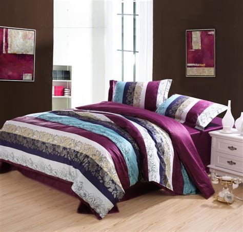 ikea bedding set egyptian cotton purple blue striped bedding set queen size