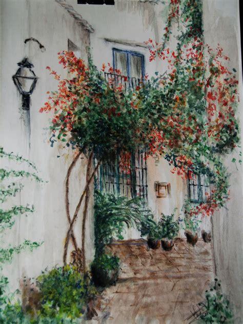 pinturas de patios andaluces patio andaluz dibujos y pinturas de luis