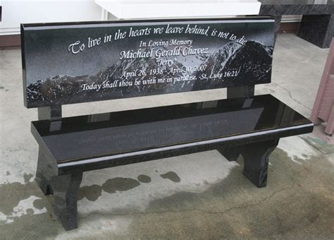 memory bench memorial bench portfolio granite benches pacific coast