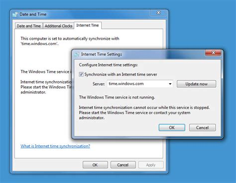 windows time service  working time synchronization