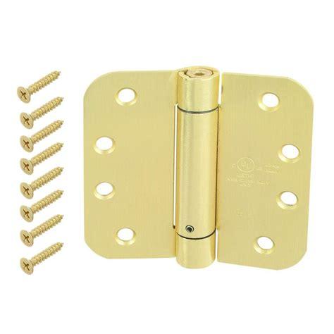 everbilt 3 in satin brass square corner door hinge 14989