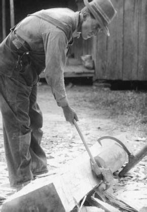 modern carpenters     cracking  log