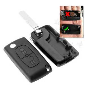 Peugeot 407 Key Programming 2 Button Replacement Remote Flip Key Fob Shell Blade