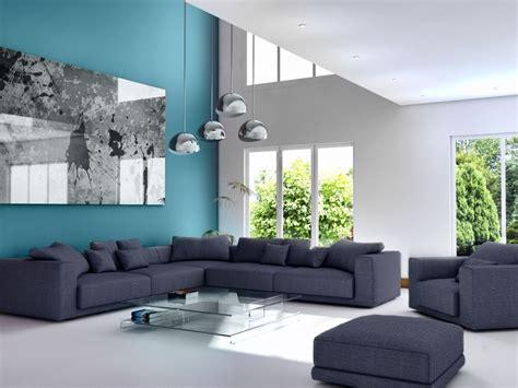 Deco Bleu Et Gris by Deco Salon Gris Et Bleu Canard