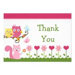 happy tree owls baby shower thank you card 5 quot x 7