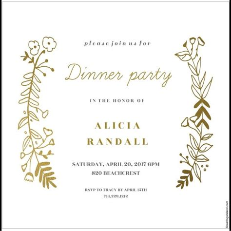 dinner invitation card template 12 free sle dinner invitation card templates