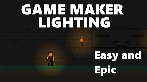 tutorial video game game maker easy lighting tutorial youtube