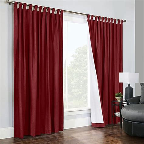 Burgundy Tab Top Curtains Buy Thermalogic 174 Weathermate 84 Inch Wide Tab Top Window Curtain Panel Pair In Burgundy