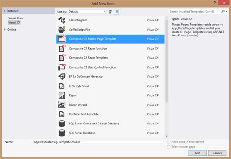 visual studio form templates in visual studio