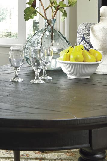 sharlowe dining room table sharlowe oval dining room extension table in charcoal gray