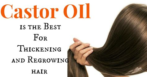 recipes for hair thickeners castor oil best for thickening and regrowing hair