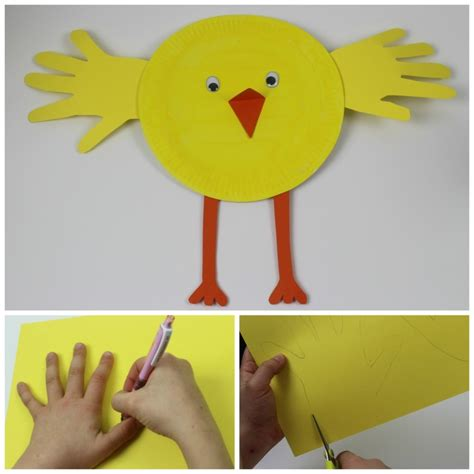Paper Plate Chicken Craft - paper plate print in the madhouse