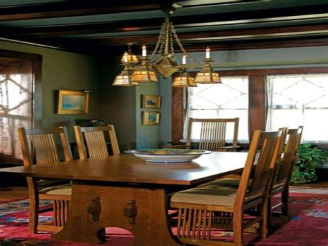 arts  crafts dining room lighting   chairs