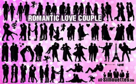 film anime nere gratis vektor romantische liebe paar alle silhouetten download