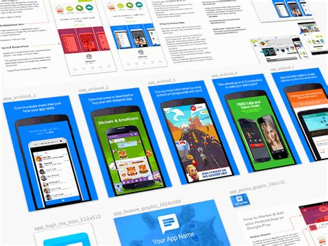 design app screenshots google play screenshots feature graphic and more by todor