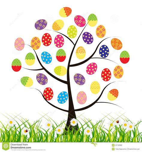 clipart pasqua albero di pasqua di vettore con le uova illustrazione di